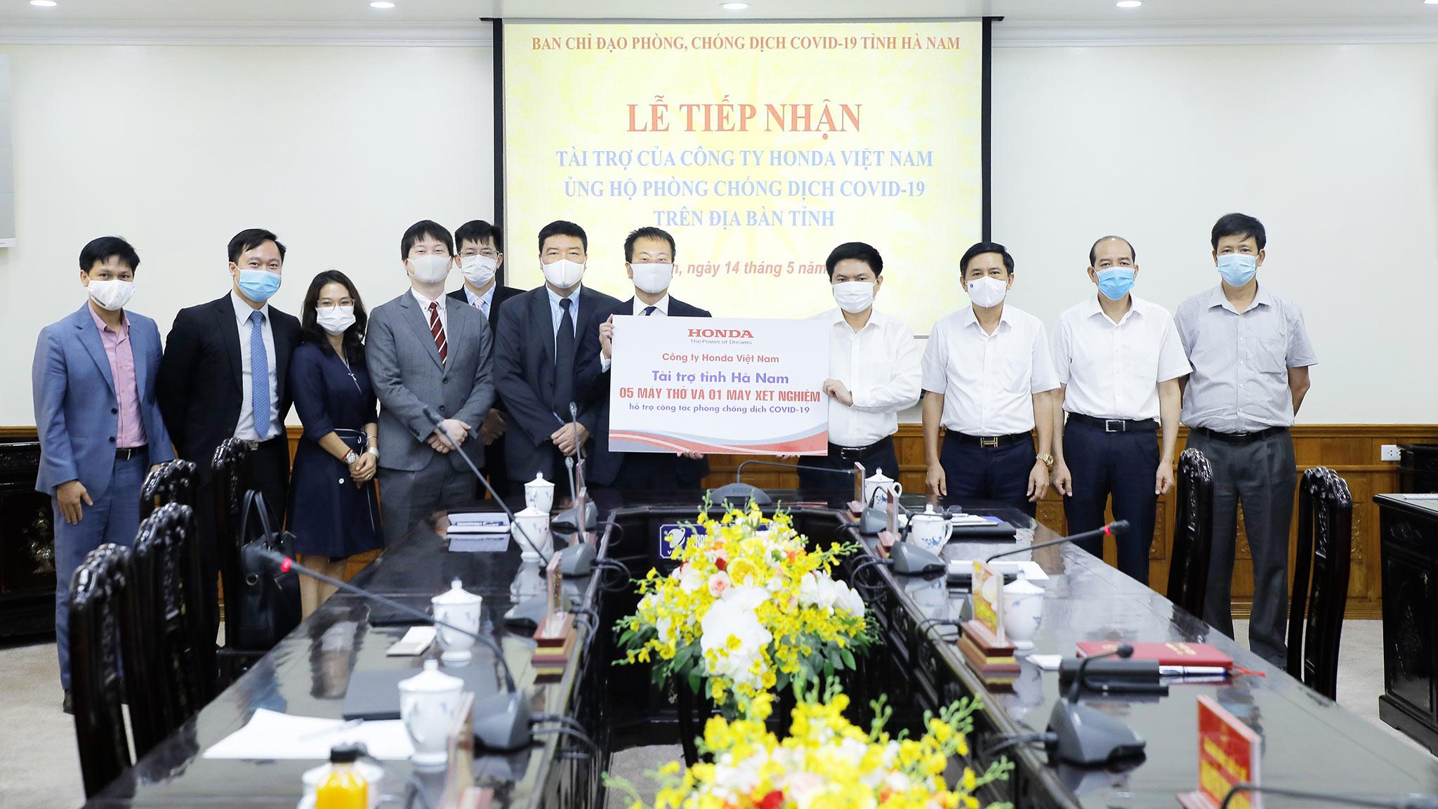 Honda Việt Nam ủng hộ phòng chống dịch bệnh COVID-19 tại tỉnh Vĩnh Phúc và Hà Nam hvn2.jpg