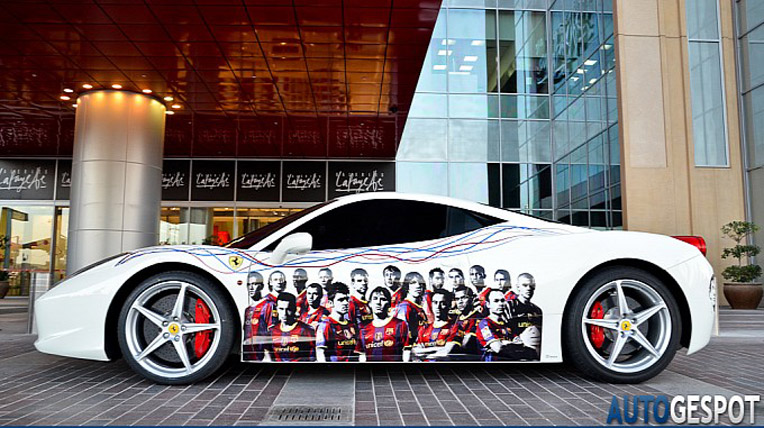 Ferrari 458 Italia FC Barcelona Edition