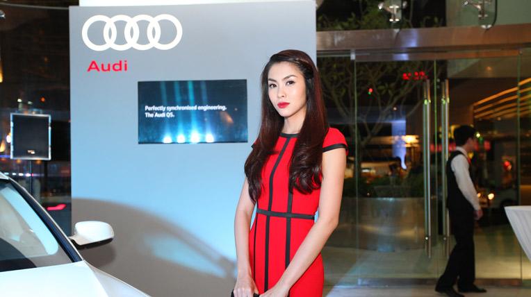 Tăng Thanh Hà rạng ngời trong đêm ra mắt Audi Q3