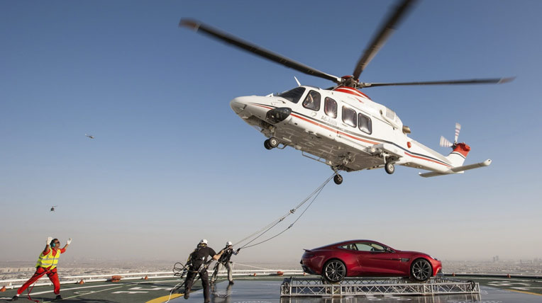 Trực thăng vận chuyển Aston Martin Vanquish