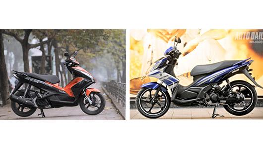 Đánh giá Honda AirBlade 125 và Yamaha Nouvo GP 125 - 1