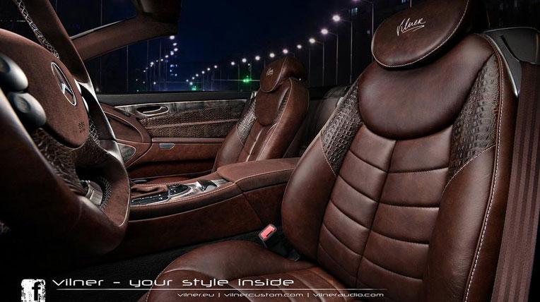 Mercedes-Benz SL với nội thất da cá sấu