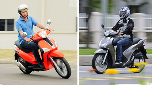 Đánh giá Piaggio Liberty 3V ie và Honda SH 125i - 2