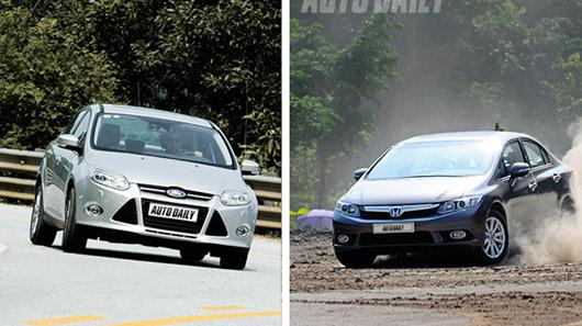 Đánh giá Ford Focus Titanium + và Honda Civic 2.0 - 2