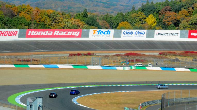 Lái thử xe Honda tại trường đua Motegi
